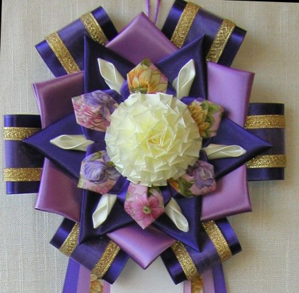 9T-7 purple, orchid, eggshell with puff