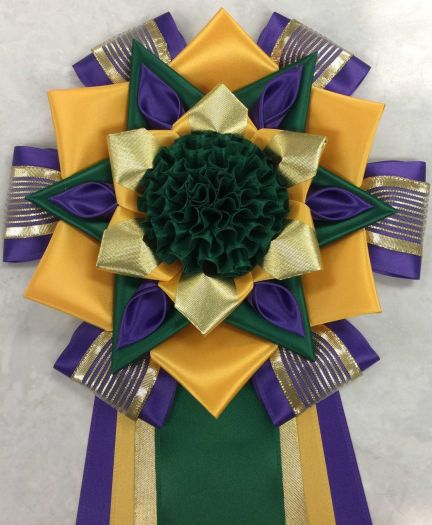 9T-7 purple, deep gold & emerald w/ puff