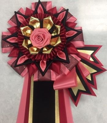 CDNC - rose, red, black w/ optional flags & folds